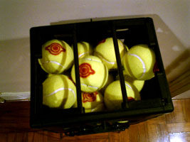 My marked tennis balls